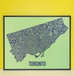 Toronto Map in Black Frame