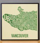 Vancouver Map in Black Frame