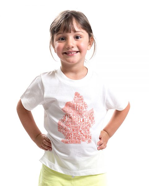 Brooklyn Kid's Tee in White
