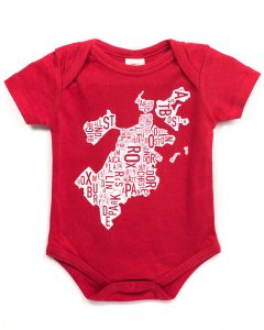Boston Baby Onesie in Red