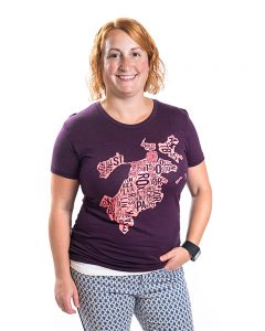 Boston Women's Tee in Purple