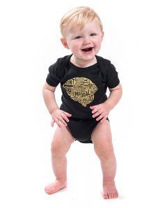 Brain Baby Onesie in Black