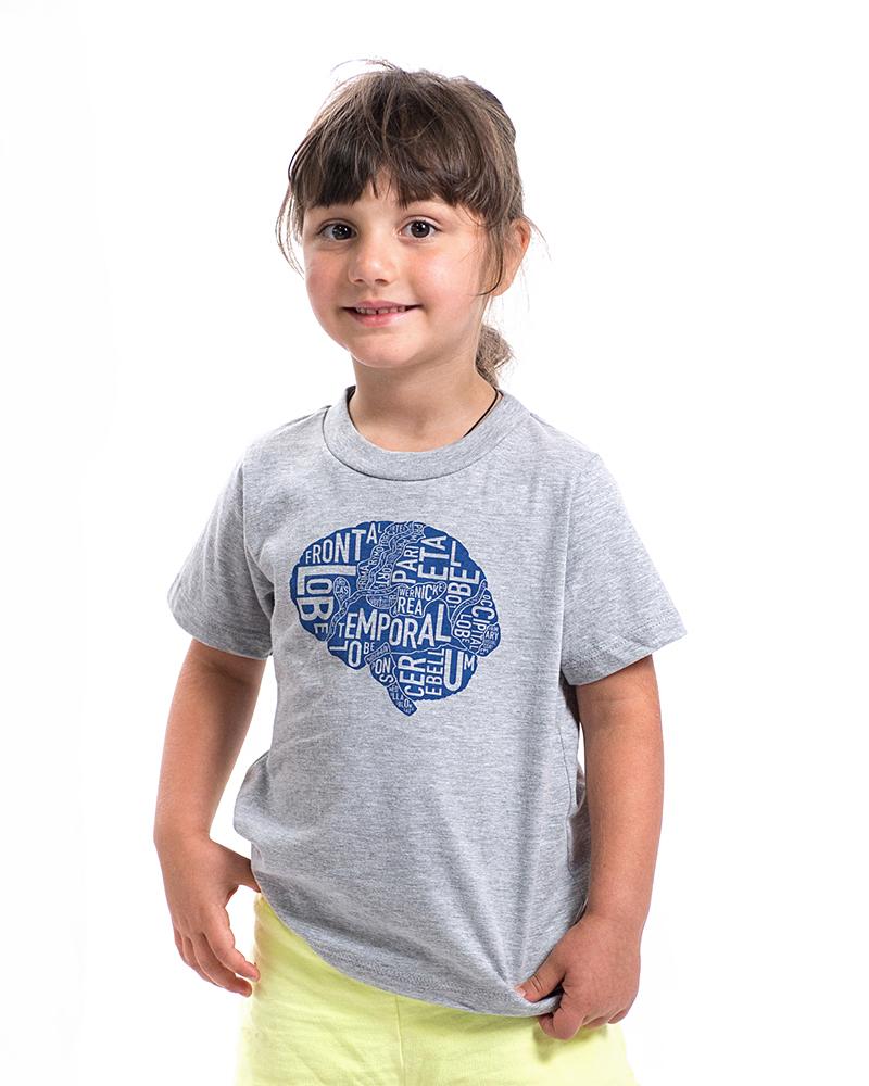 Brain Typographic Anatomy Kid\'s T-Shirt