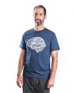 Brain Men's Tee in Blue Heather