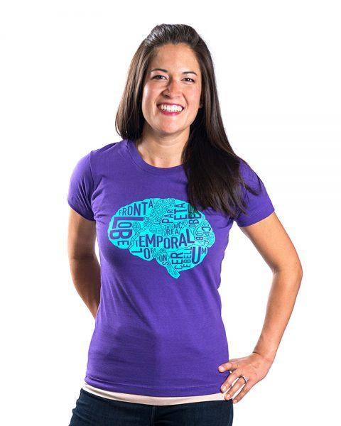 Brain Women's Tee in Purple