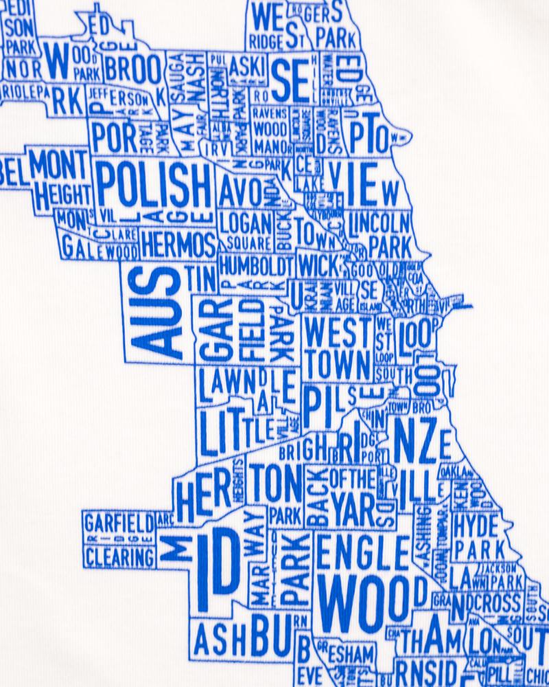 Chicago Neighborhoods Map Baby Onesie - Chicago neighborhood map art