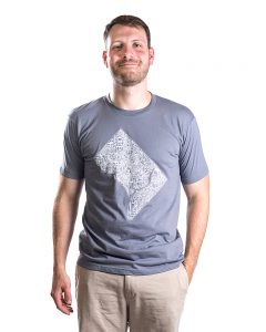 Washington DC Men's Tee in Grey