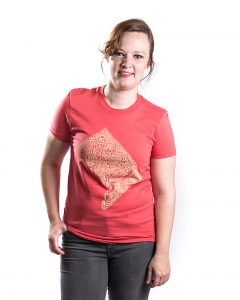 Washington DC Women's Tee in Coral