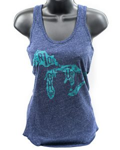 Great Lakes Women's Tank in Blue Heather
