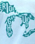 Great Lakes Women's Tee in Light Blue