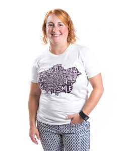 Greater London Women's Tee in Grey Heather