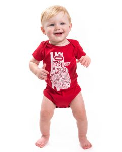 Heart Baby Onesie in Red