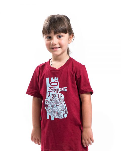 Heart Kid's Tee in Red