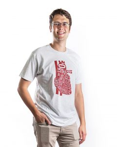 Heart Men's Tee in Grey Heather