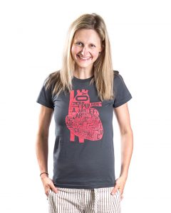 Heart Women's Tee in Grey