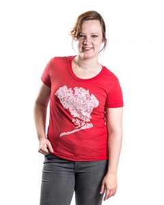 Queens Women's Tee in Red