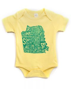 San Francisco Baby Onesie in Yellow