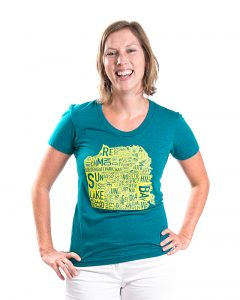 San Francisco Women's Tee in Teal Heather