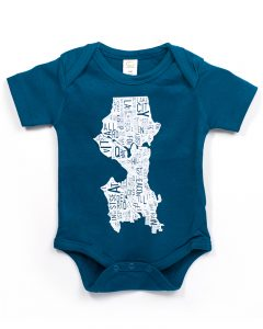 Seattle Baby Onesie in Blue
