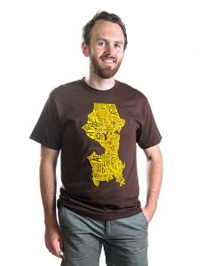 Seattle Men's Tee in Brown