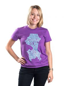 Seattle Women's Tee in Purple