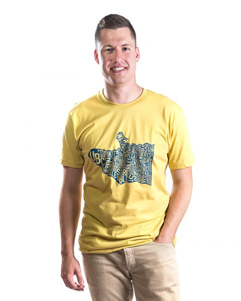 Vancouver Men's Tee in Yellow