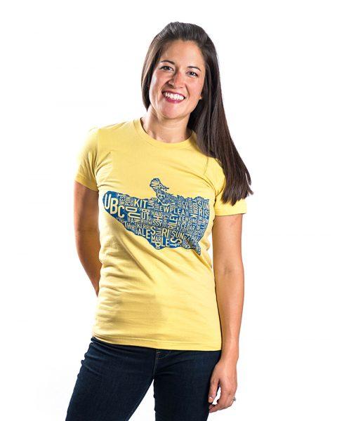 Vancouver Women's Tee in Yellow