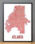 Atlanta Map in Black Frame