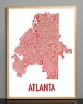 Atlanta Map in Bronze Frame