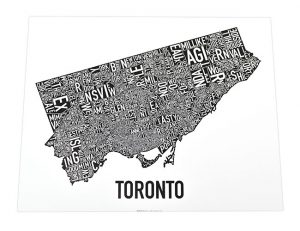 Toronto Neighborhoods 14x11 Classic Black & White Poster