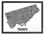 Toronto Mini Map in Black Frame