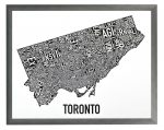 Toronto Mini Map in Grey Frame
