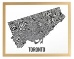 Toronto Mini Map in Bronze Frame