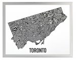 Toronto Mini Map in Silver Frame