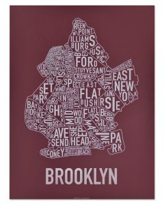Brooklyn Maroon & Grey Print