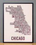 Chicago Fall Blush Print in Black Frame