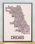 Chicago Fall Blush Print in Grey Frame