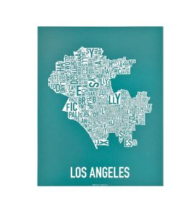Los Angeles Teal 11x14 Screen Print