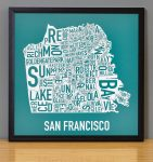 San Francisco Mini Print in Black Frame