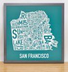 San Francisco Mini Print in Grey Frame