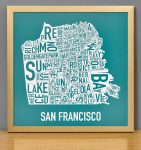 San Francisco Mini Print in Bronze Frame