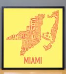 Miami Sunshine Print in Black Frame