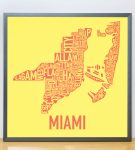 Miami Sunshine Print in Grey Frame