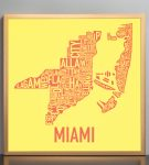 Miami Sunshine Print in Bronze Frame