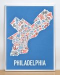 Philly Multi Print in Silver Frame