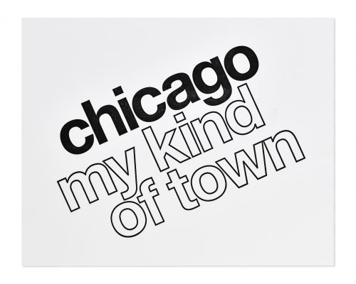 chicago my kind of town letterpress art print