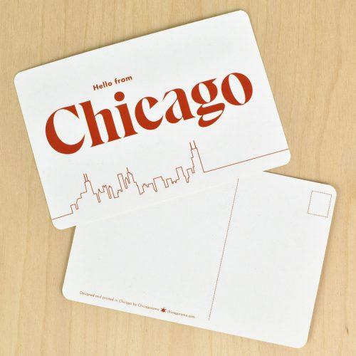 hello chicago postcard