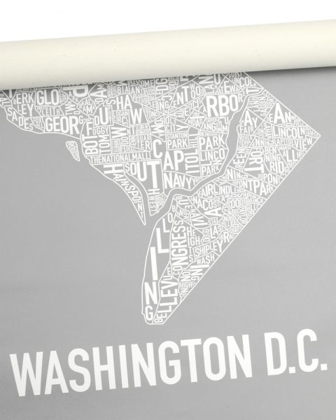 "Washington DC Rolled Canvas, 18"" x 24"""
