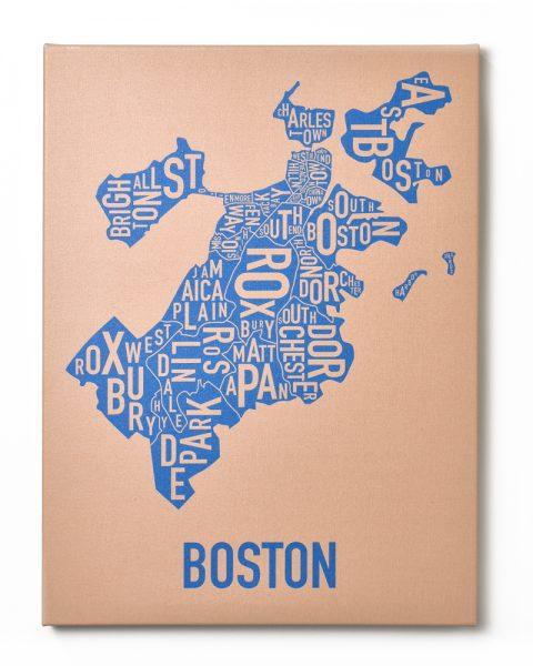 Boston Tan/Blue Canvas, Front