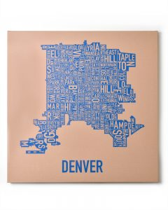 Denver Tan/Blue Canvas, Front